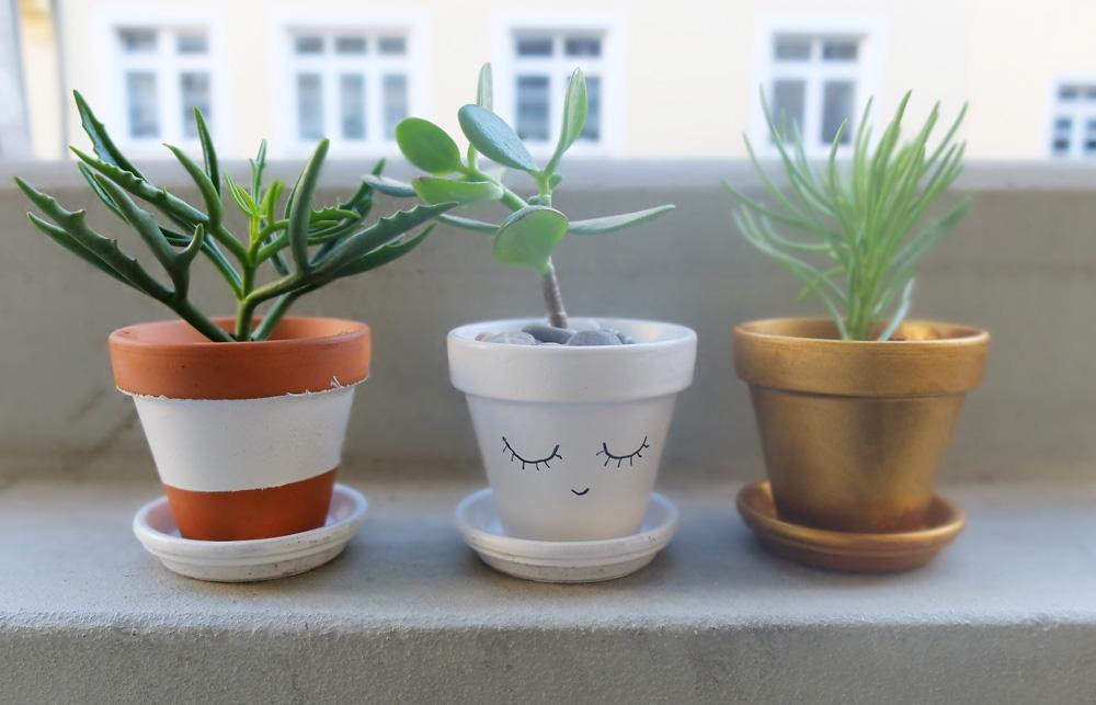 Mini-Pflanzentöpfe // juliefahrenheit.com