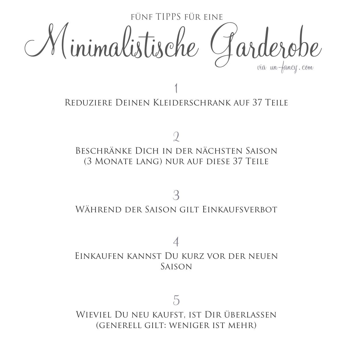 Die minimalistische garderobe julie fahrenheit for Minimalismus blog kleidung