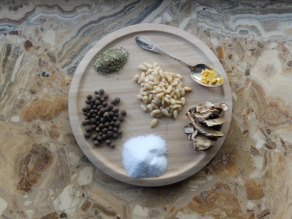 Zutaten Steinpilz-Salz