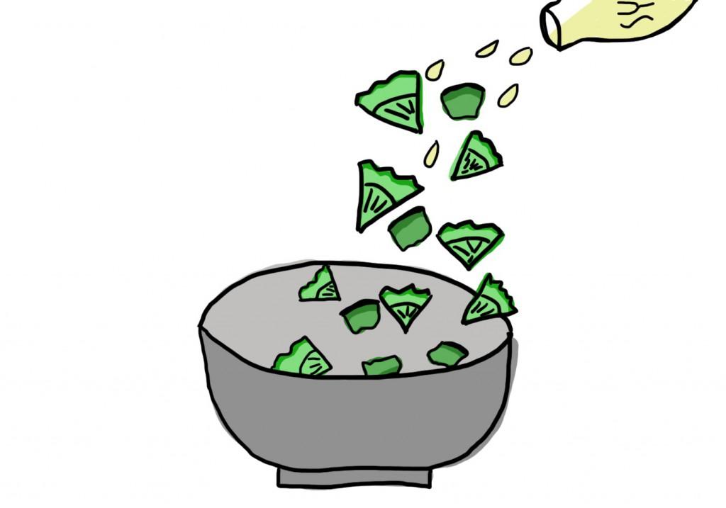 Avocado-Gurken-Salat via juliefahrenheit.com