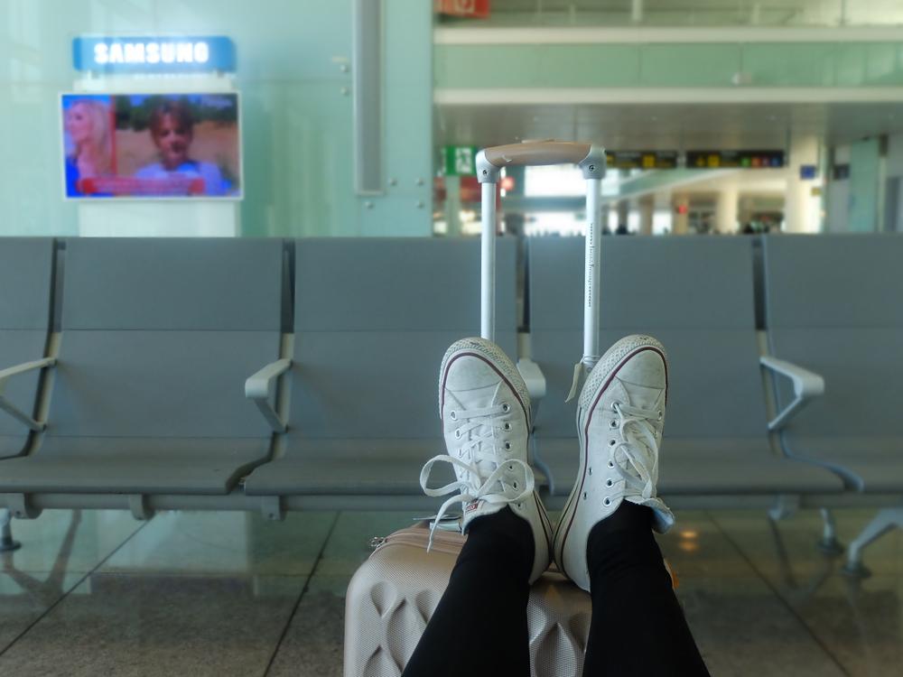 Rumhängen am Flughafen
