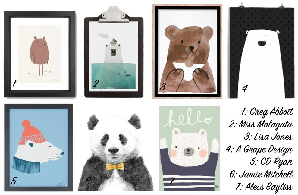 Drucke mit Bär | Julie Fahrenheit