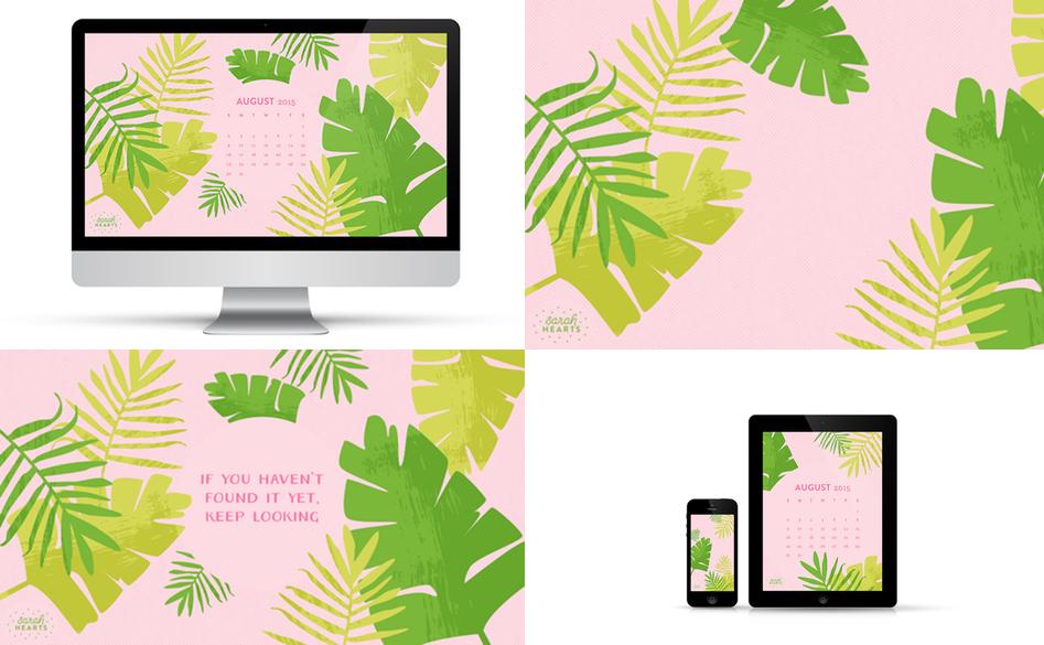 Wallpaper Sarah Hearts | Julie Fahrenheit