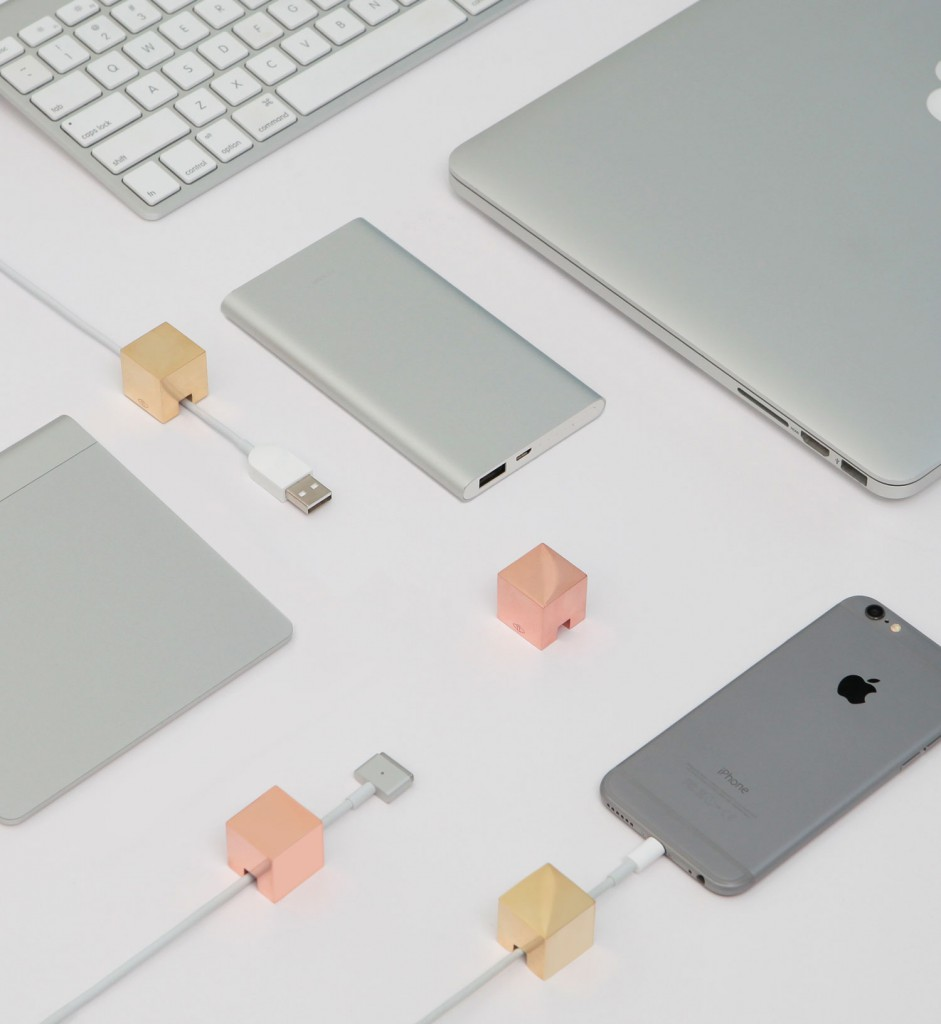 Cubic Cable Holder by Kebei Li