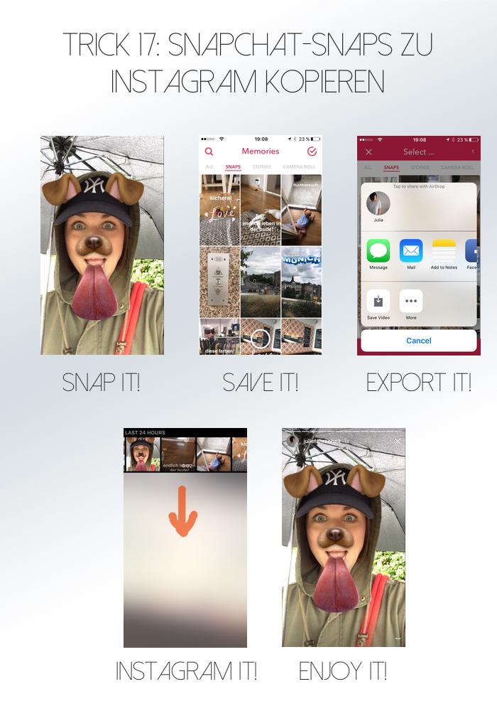 Snaps bei Instagram | Julie Fahrenheit