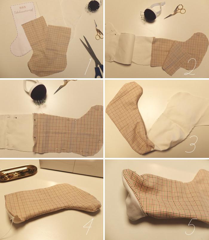 DIY Nikolausstrumpf, genäht | Julie Fahrenheit