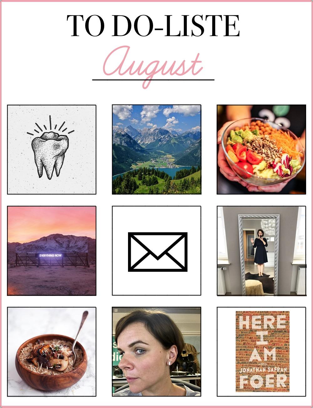To Do August | Julie Fahrenheit